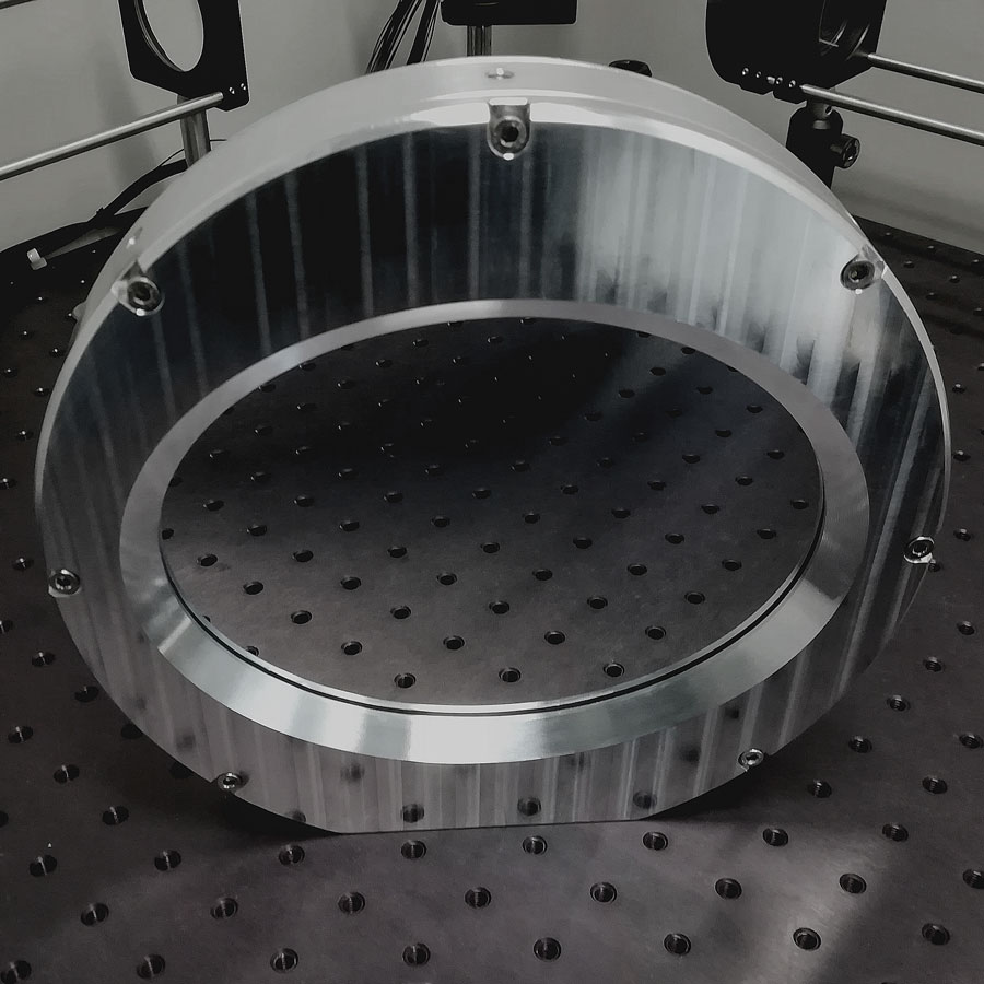 Large aperture deformable mirrors. Example of 100mm DM ar 45deg AOI